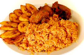 FRIED RICE & CHICKEN & FRIED PLAINTAIN