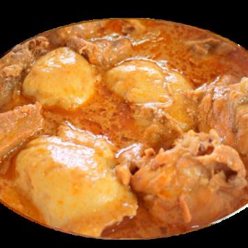 BANKU & COW MEAT& SOUP