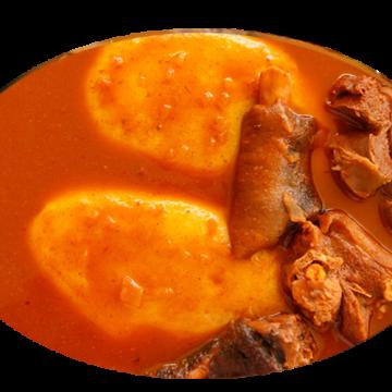 FUFU & COW MEAT & SOUP